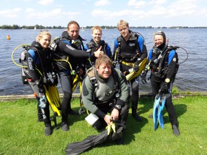Open water students